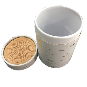 Biodegradable fancy different color new design round cylinder paper box for flower