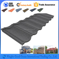Double layer fibreglass asphalt shingle colorful asphalt shingles