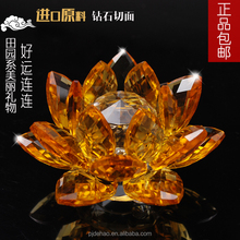 Home Crystal Decorations Delicate K9 Crystal Lotus Flower