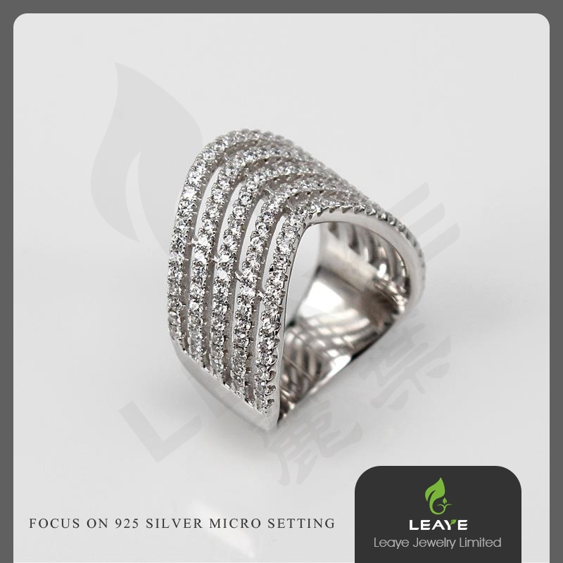 Multi layer 925 sterling silver ring handmade jewelry wholesale china kangan designs