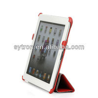 4 folded super slim pu leather for iPad case