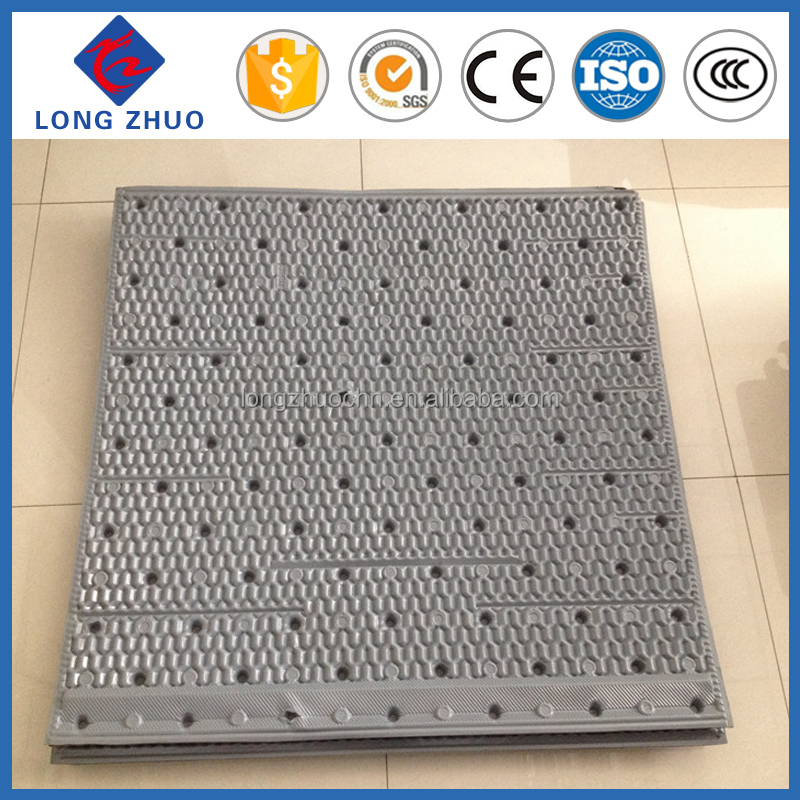 Black PVC filler for square cooling tower, Lowest price cooling tower PVC sheet