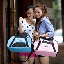 pink pet carrier