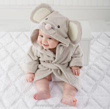 High quality organic cotton Animal Mouse Kids Hooded Baby Bath Towel Kids baby Bathrobe HDT-036 wholesale China Supplier