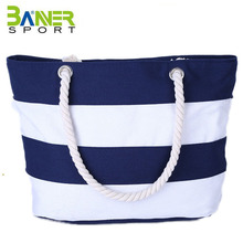 Beach Bags Water Resistant Large Canvas Beach Bag Tote With Top Zipper Closure