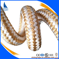 Nylon Polyester Gold Braided Line Mooring