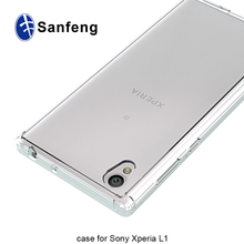 For Sony Xperia L1 Crystal Transparent Phone Case with Translucent Finish