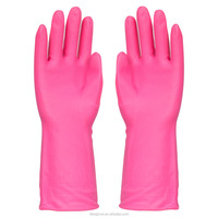 120G Pink Pvc Household Safety Gloves