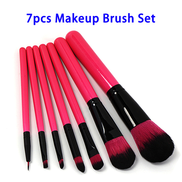 7pcs Nylon Brush Material and Face Use Cosmetic Make Up Brush Set
