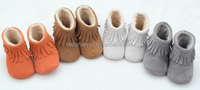 Winter plush warm children boot moccasins baby shoes