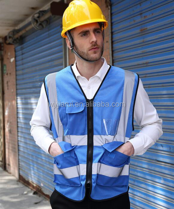 blue Hot Sale Hi Vis Warning Reflective Safety Vest For Running Manufacturer In China
