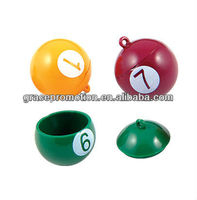 Ball Shape Lip Balm With Keychain holder