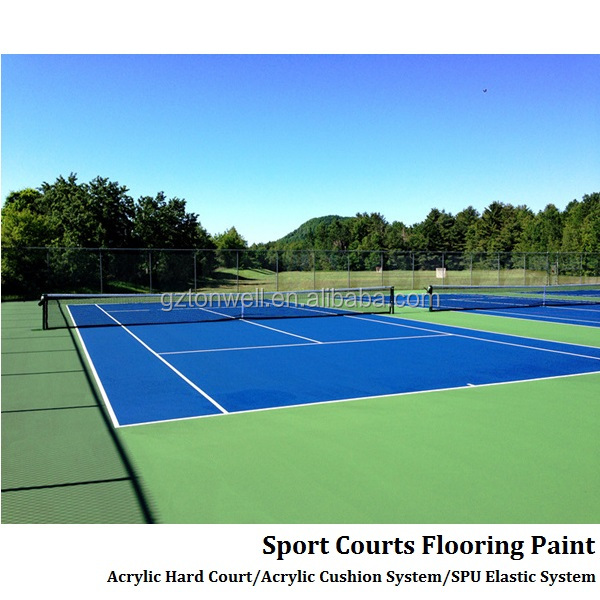 Sports outdoor tennis court SPU underlay surface