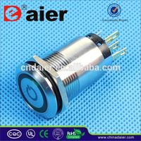 Daier chrome push button switch