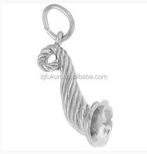 3 Dimensional Horn Of Plenty Charm Music Horn Charm