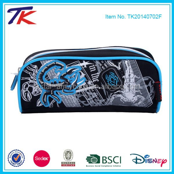 PVC School Pen Bag with Zipper Lock