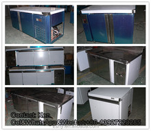 stainless steel counter with ice maker