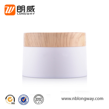 120G High Quality Wood Grain Cap with PP Glossy Empty Cream Jar
