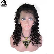 Angelbella African Hair Braided Wigs Curly Lace Front Wig For African American Women Wigs