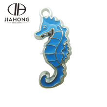 colorful custom made diy seahorse animal metal fridge magnet with engraved carvings