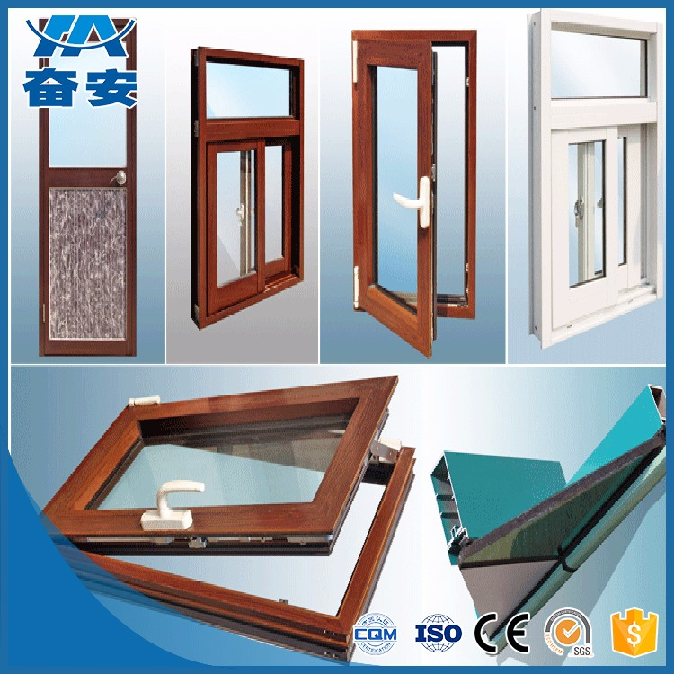 Silver Anodized Aluminum Extrusion Window Frame