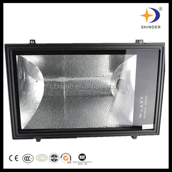 Black and square 220V 1000 watts sodium light floodlighting buy from factory