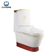 S-trap 250mm washdown one piece toilet color water closet bathroom toilet