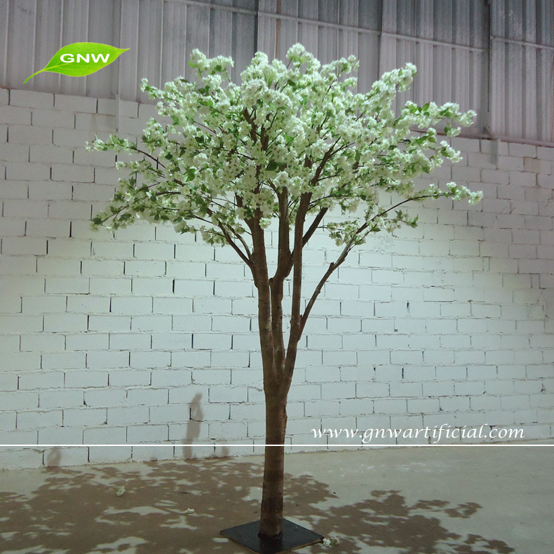 GNW artificial white cherry blossom tree branches