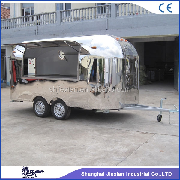 2017 shanghai JX-BT400 mobile fast foood /hot dog kitchen trailer for sale