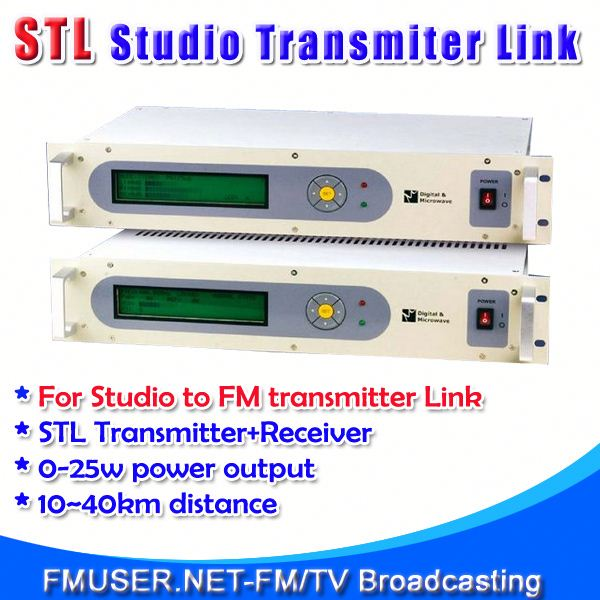 FMUSER STL10 Studio to boombox radio with rechargable battery for FM Radio Station 10-40km Studio to Transmitter Hill-RC4