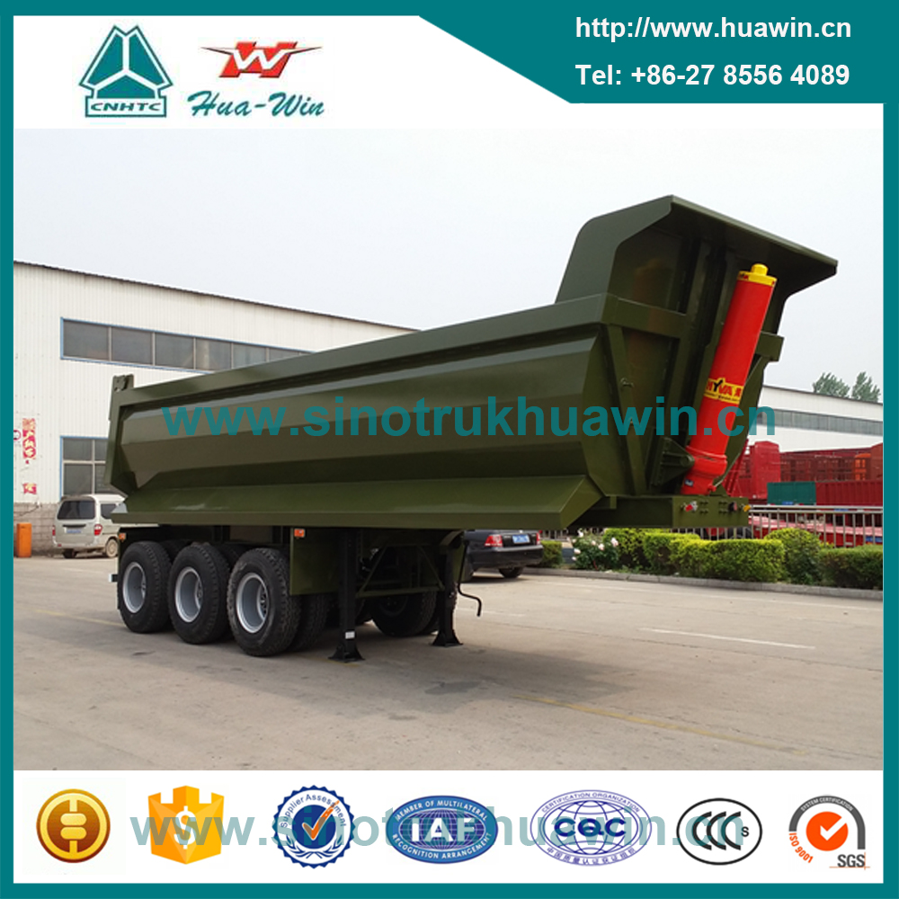 3 Axle U Shape Tipper Dumper Semi Trailer with Hyva Hydraulic System