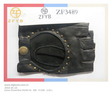 lady's studded leather gloves cut finger