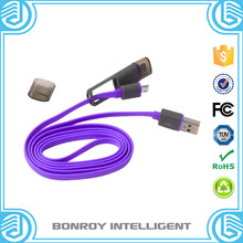 2 in 1 flexible high quality micro mini usb data charging computer cable
