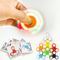 Best selling Led light plastic finger spinning top toy