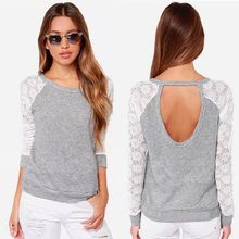 Wholesale Women Custom lace back neck design of blouse