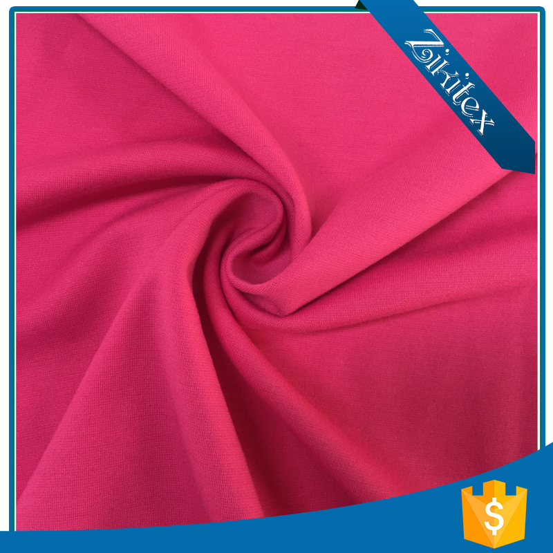 Garment cotton single jersey brushed polyester resin spandex fabric price