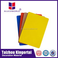 Alucoworld Offering Plastic and Aluminum Composite Panel ceiling material outdoor