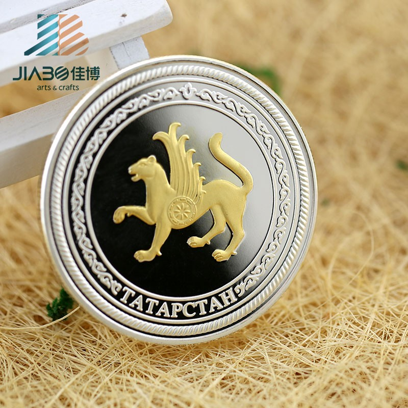 Professional custom university anniversary celebration metal souvenir silver coins
