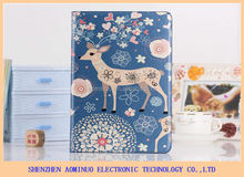 wholesale lowest price cartoon case for IPad 5 Silk pattern PU leather case cover cover for ipad 5 case