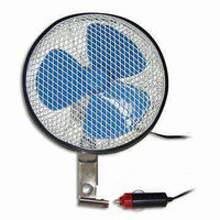 6 Inch Oscillating Car Fan with Screw Mount Base and Full Metal Grill Guard