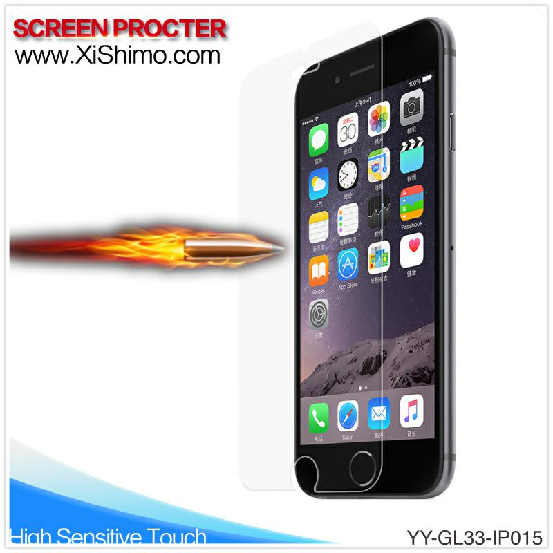 for iphone 6 film protector clear automatic adsorption tempered glass screen protector
