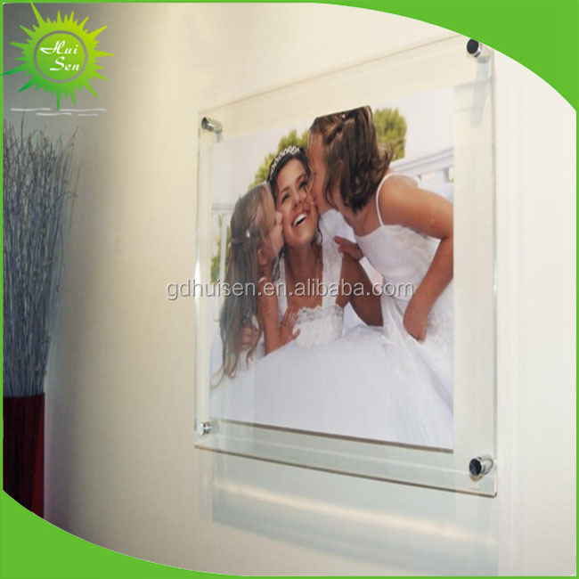 Acrylic Box To Hang On Wall : Decorative clear plastic wall hanging collage picture