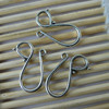 Wholesale Antique Silver Zinc Alloy Hook and Eye Clasp 12*20mm Dia 9mm