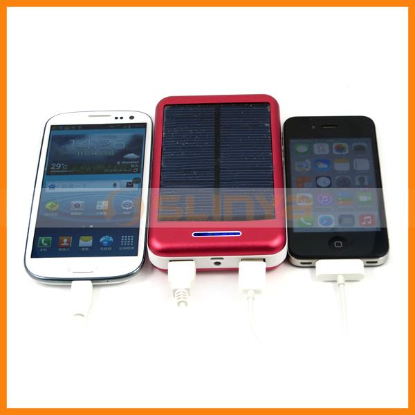 13800mah Emergency Use Dual USB Solar External Backup Battery Charger Power Bank Pack for Samsung Galaxy S3
