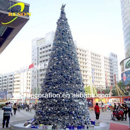 wedding decoration plastic molded outdoor christmas decorations snowing christmas tree