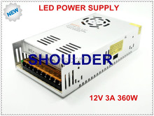 360W power supply 12V 30A DC transformer for led strips input AC110V or 220V output DC12V