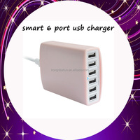 cellular accessory multiple wall charger travel power adaptor smart AC usb charger power 6 way multi usb adapter for tablet PC