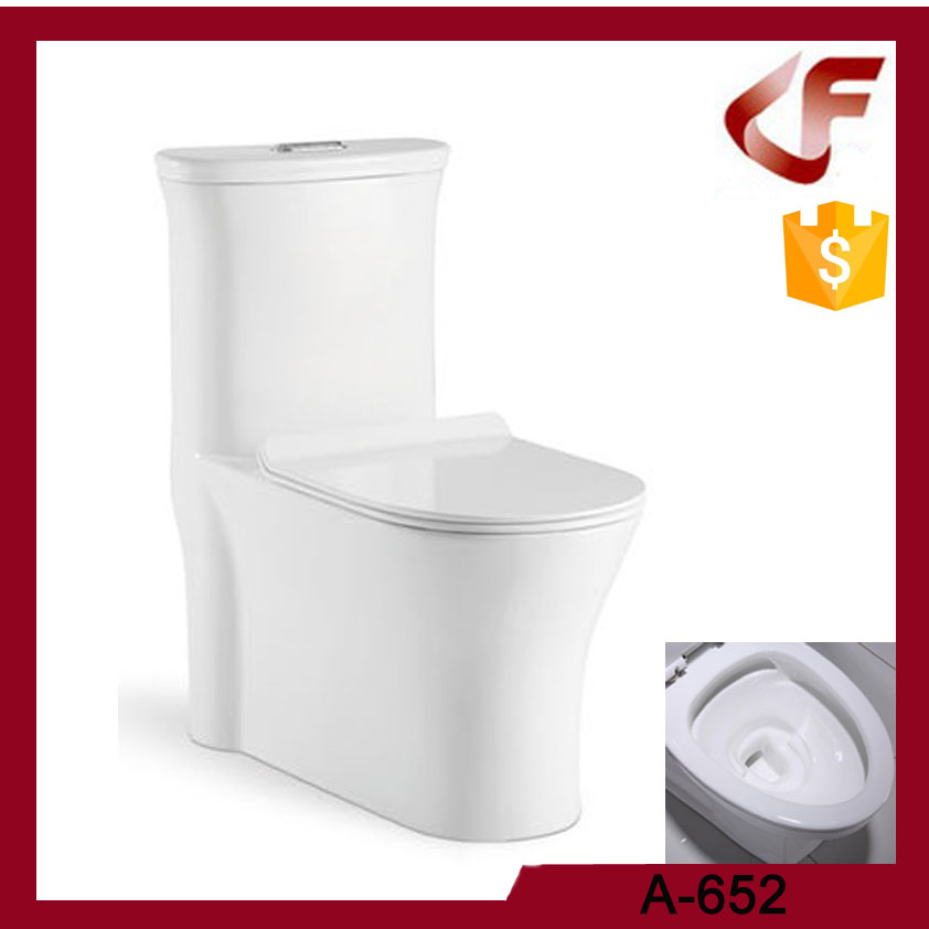 Modern Ceramics four holes eddy flushing siphonic one piece toilet
