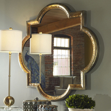 Hot sale best metal framed wall mirrors with copper edge