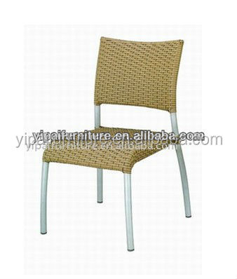 simple stytle aluminum rattan conference armless chairs YC039